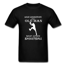 Never Underestimate An Old Man t-shirt - black