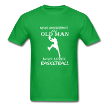 Never Underestimate An Old Man t-shirt - bright green