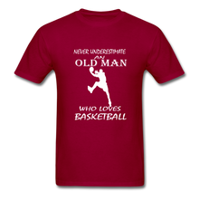 Never Underestimate An Old Man t-shirt - dark red