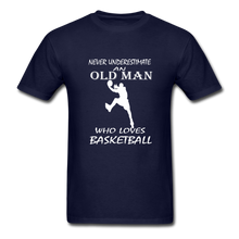 Never Underestimate An Old Man t-shirt - navy