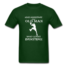 Never Underestimate An Old Man t-shirt - forest green