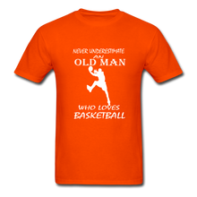 Never Underestimate An Old Man t-shirt - orange
