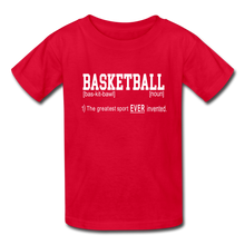 Basketball Definition - red