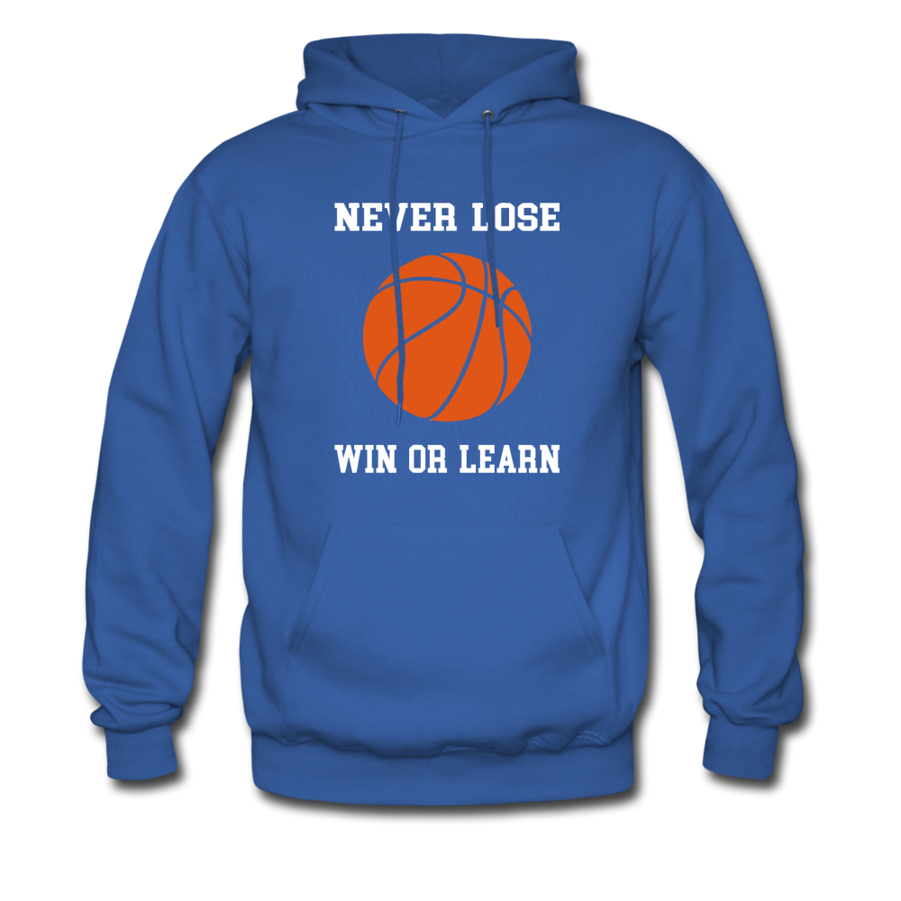 NEVER LOSE-WIN OR LEARN - royal blue