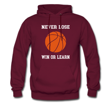 NEVER LOSE-WIN OR LEARN - burgundy