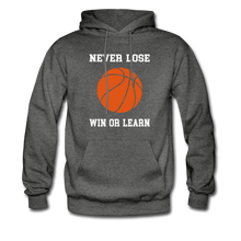 NEVER LOSE-WIN OR LEARN - charcoal gray