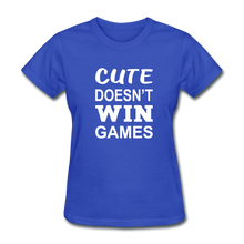 Cute Doesn't Win Games - royal blue