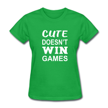 Cute Doesn't Win Games - bright green