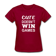 Cute Doesn't Win Games - dark red