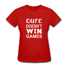 Cute Doesn't Win Games - red