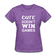 Cute Doesn't Win Games - purple heather
