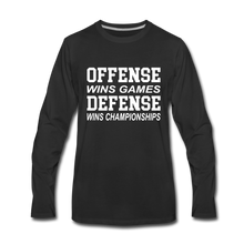 Offense vs. Defense - black