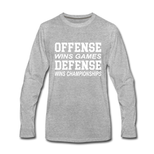 Offense vs. Defense - heather gray