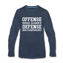 Offense vs. Defense - navy
