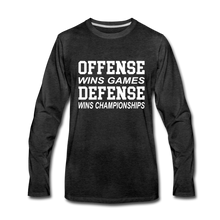 Offense vs. Defense - charcoal gray