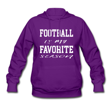 Football is my favorite season (woman's hoodie) - purple