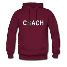 Money Coach with green dollar sign - burgundy
