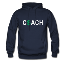 Money Coach with green dollar sign - navy