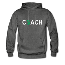 Money Coach with green dollar sign - charcoal gray