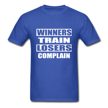 Winners Train-Losers Complain - royal blue