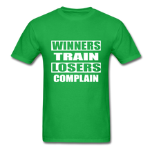 Winners Train-Losers Complain - bright green