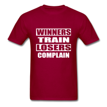 Winners Train-Losers Complain - dark red