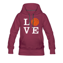 LOVE Basketball-Woman's Hoodie - burgundy