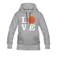 LOVE Basketball-Woman's Hoodie - heather gray
