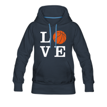 LOVE Basketball-Woman's Hoodie - navy