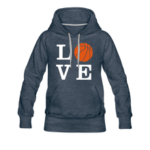 LOVE Basketball-Woman's Hoodie - heather denim
