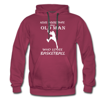 Old Man Loves Basketball - burgundy