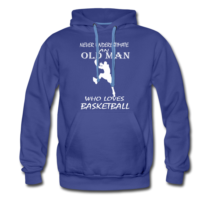 Old Man Loves Basketball - royalblue