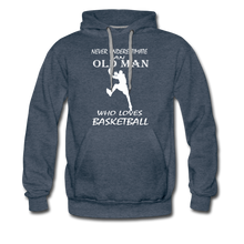 Old Man Loves Basketball - heather denim