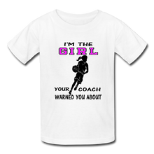 "I'm the ""GIRL"" t-shirt - white"