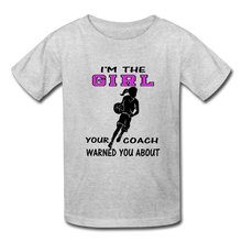 "I'm the ""GIRL"" t-shirt - heather gray"