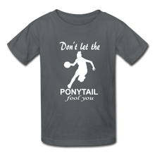 Don't Let The Ponytail Fool You-kid's t-shirt - charcoal