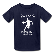 Don't Let The Ponytail Fool You-kid's t-shirt - navy