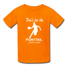 Don't Let The Ponytail Fool You-kid's t-shirt - orange