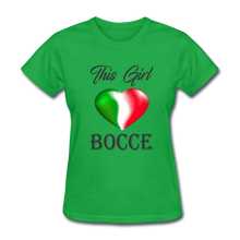 This Girl Loves Bocce-Heart - bright green