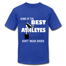 The BEST ATHLETES don't wear shoes - royal blue