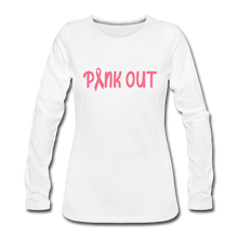 Pink Out (with white outline) - white