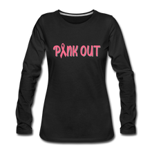 Pink Out (with white outline) - black