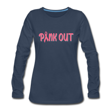 Pink Out (with white outline) - navy