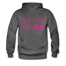 Real Men Wear Pink Hoodie - charcoal gray