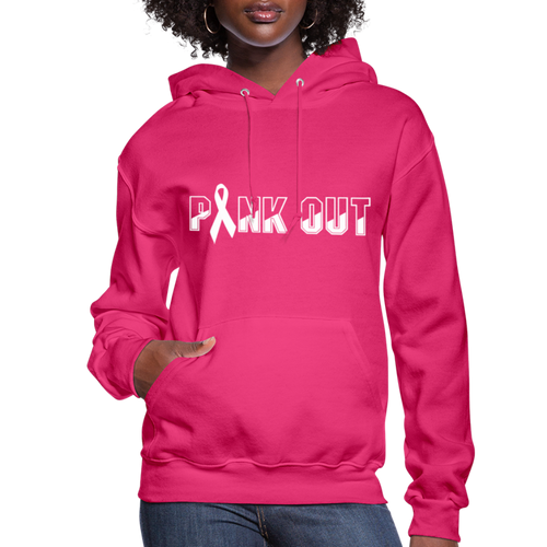 Pink Out Women's Hoodie - fuchsia