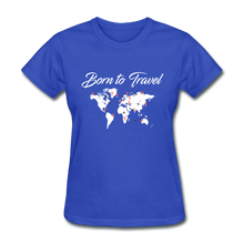 Born to Travel - royal blue