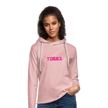 TOBBS Unisex Lightweight Terry Hoodie - cream heather pink