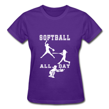Softball All Day - purple