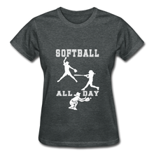 Softball All Day - deep heather