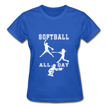 Softball All Day - royal blue